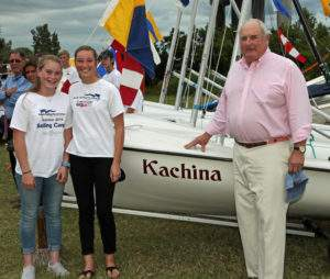 Crew Cate Lovelady & Skipper Sydney Ohs with Tony Tremaine