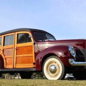 Gavin Ruotolo's 1940 Ford Deluxe Woody Station Wagon – on display at Wheels & Keels