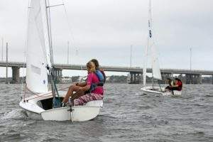 YSF's Vero Beach Varsity Sailing Team practices on the Indian River Lagoon