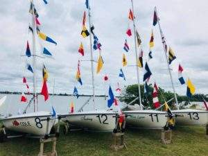 4 Newly commissioned 420 sailboats