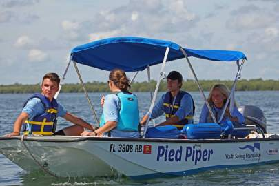 Camp counselors on Boston Whaler7 31 19 14 Web