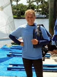 Mylee Smith is a member of the Vero Beach Varsity Sailing Team & volunteers as an instructor