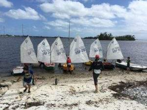 Beginning sailing lessons are offered free of charge to Indian River County children