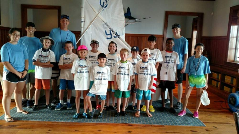 Young sailboat team